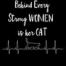 Every Strong Women Has A Cat Typography by purelifephotoss