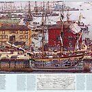 «Diagrama de los muelles de Salem Massachusetts» de BravuraMedia