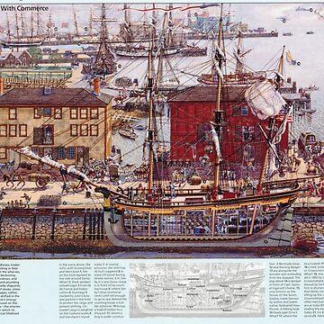 Diagrama de los muelles de Salem Massachusetts de BravuraMedia