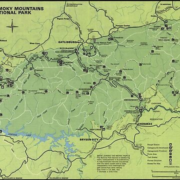 Mapa del Parque Nacional de las Montañas Humeantes (1980) de BravuraMedia