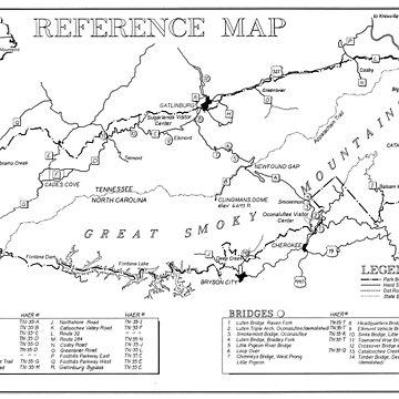 Mapa del Parque Nacional de las Grandes Montañas Humeantes (1996) de BravuraMedia