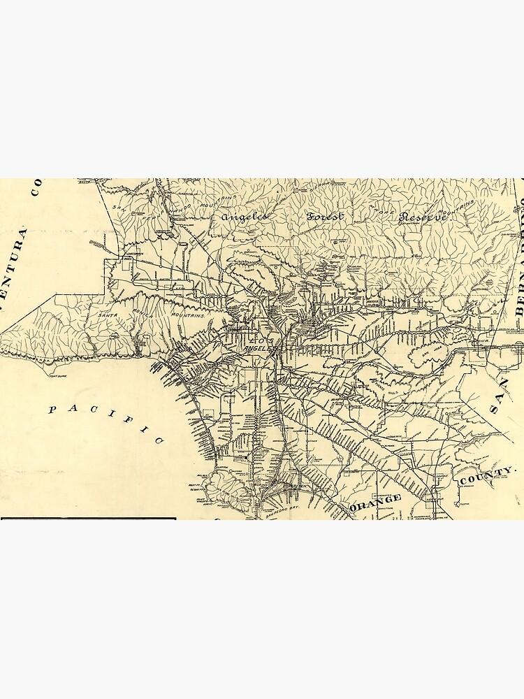 Mapa ferroviario del condado de Los Ángeles de la vendimia (1912) de BravuraMedia