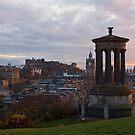 Sunset Over Edinburgh by Lynne Morris