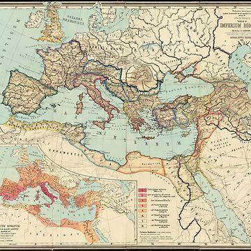 Mapa vintage del imperio romano (1889) de BravuraMedia
