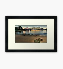 Sydney Rocks - Sydney Harbour (HDR Panorama) - The HDR Experience Framed Print