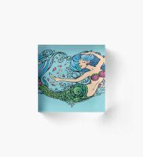 Heart of a Mermaid- Color- Light Acrylic Block