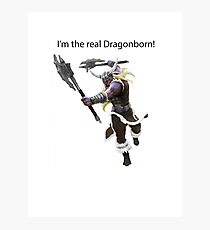 Olaf The DragonBorn Photographic Print