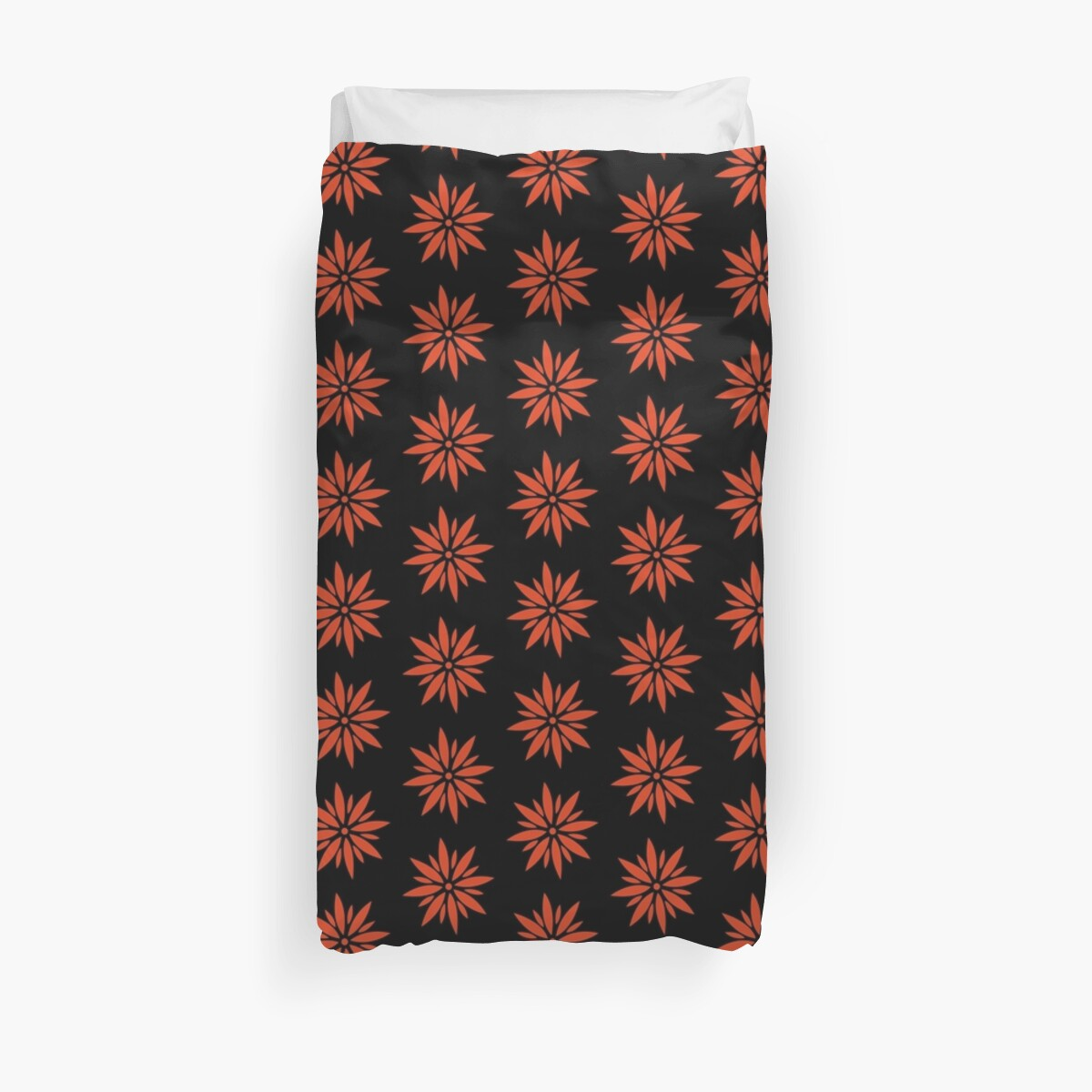 Black and Red Flower duvet Duvet Cover