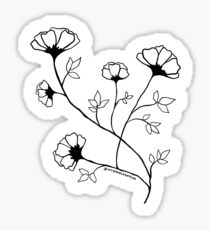 Floral Illustration - January Flower Blooms - MyDoodlesAteMe Sticker