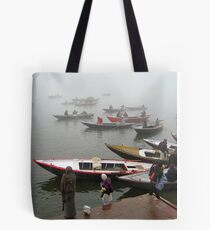 Dawn on the Ganges Tote Bag