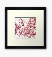 Time Traveling to the Aztecs Framed Print