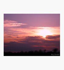 Purple Sky Photographic Print