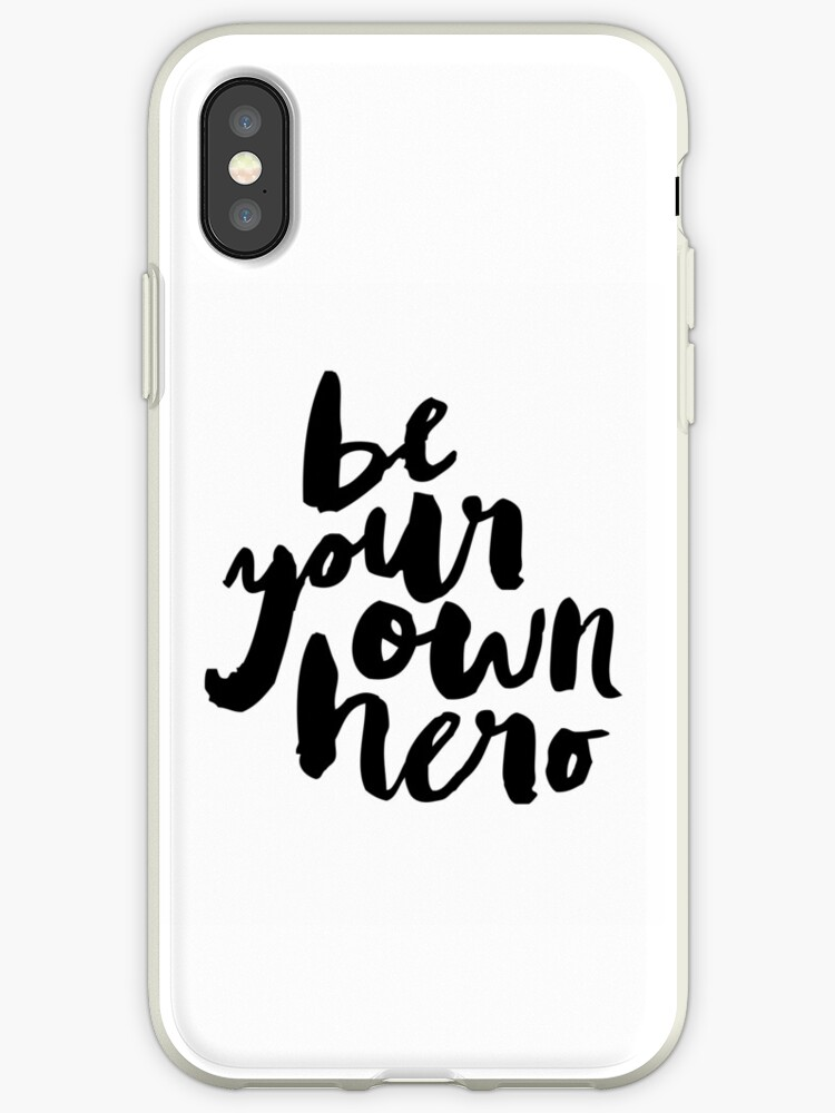 BE YOUR OWN HERO Typography Art by milalala