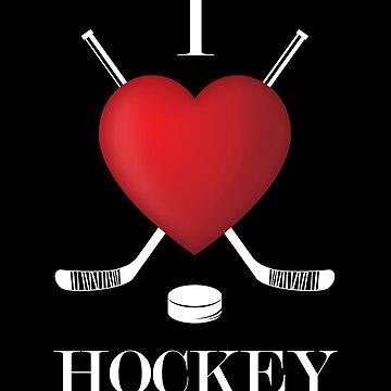 Ice Hockey Ice Rink Ice Rink Fan I Love Hockey Stadium Gift by Rueb