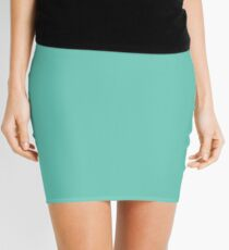 Pantone 570 - Aqua Green Mini Skirt