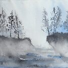 Blue Pines & Water by MsSexyBetsy