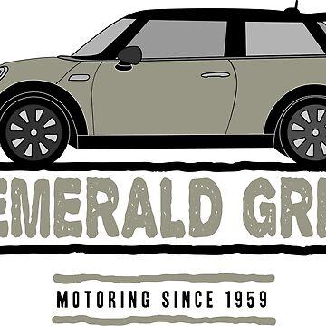 F56 Mini Team Emerald Grey by Wildharegrafix