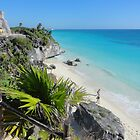 Mexican Beach from Mayan Ruins by Jenna Jade