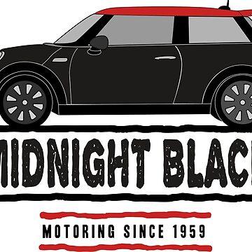 F56 Mini Team Midnight Black & Red by Wildharegrafix