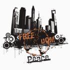 City Freedom Peace T-Shirt by jay007