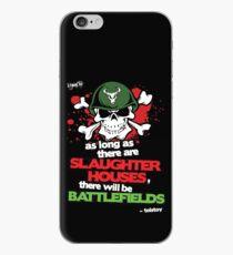 VeganChic ~ Slaughterhouses & Battlefields iPhone Case