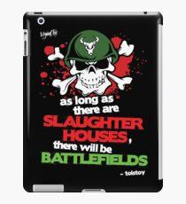 VeganChic ~ Slaughterhouses & Battlefields iPad Case/Skin