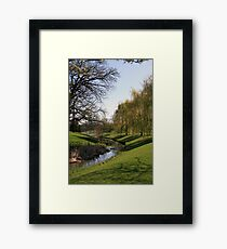 Spring Shadows In The Park Framed Print