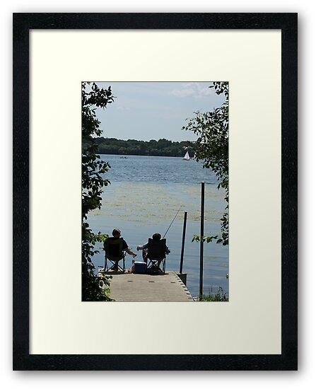 Sitting on Dock by Gary Horner