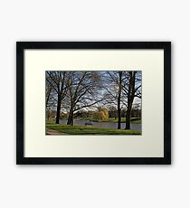 Spring In Lincoln Park Lagoon Framed Print