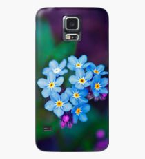 Forget Me Not Flowers Case/Skin for Samsung Galaxy