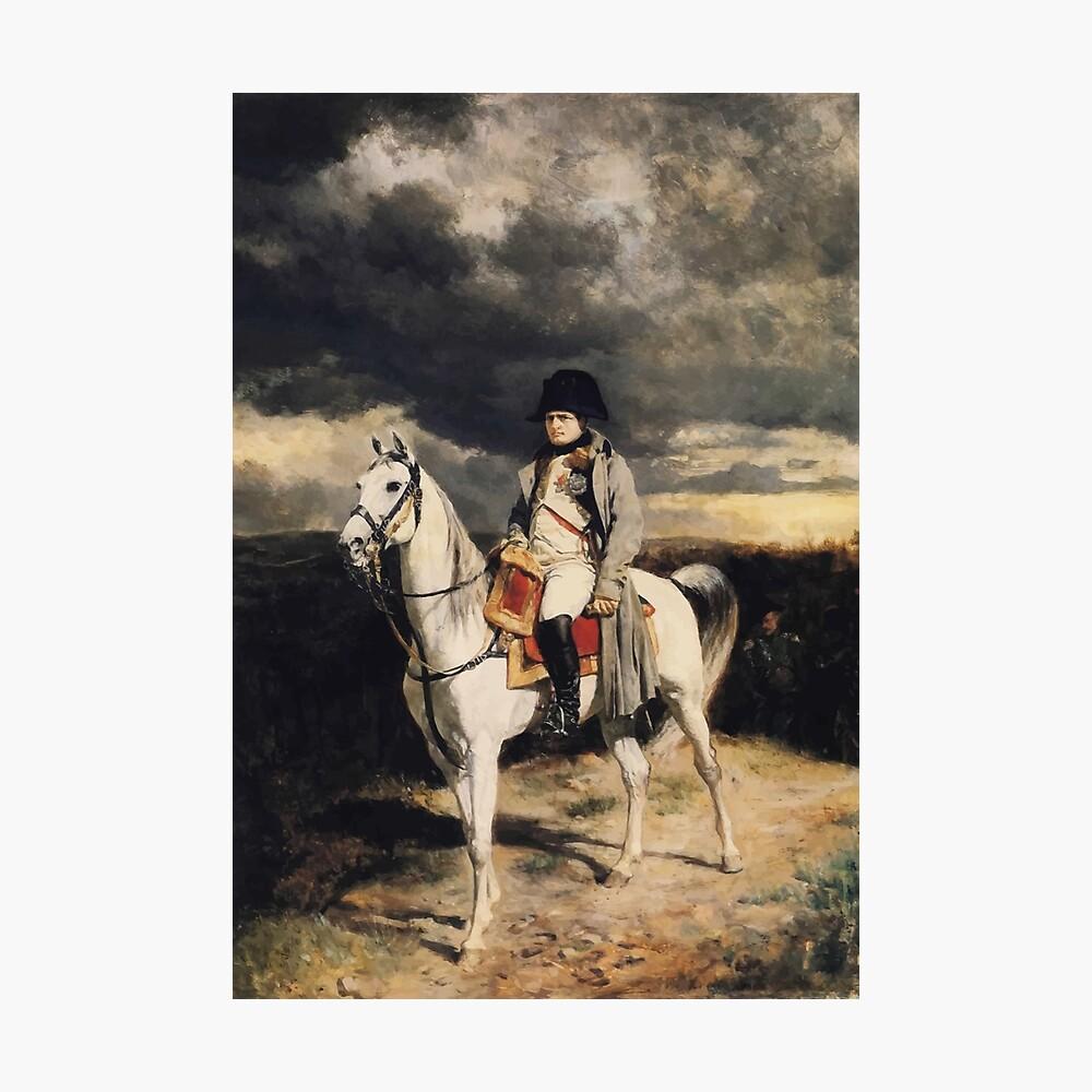 Napoleon Bonaparte zu Pferd Fotodruck