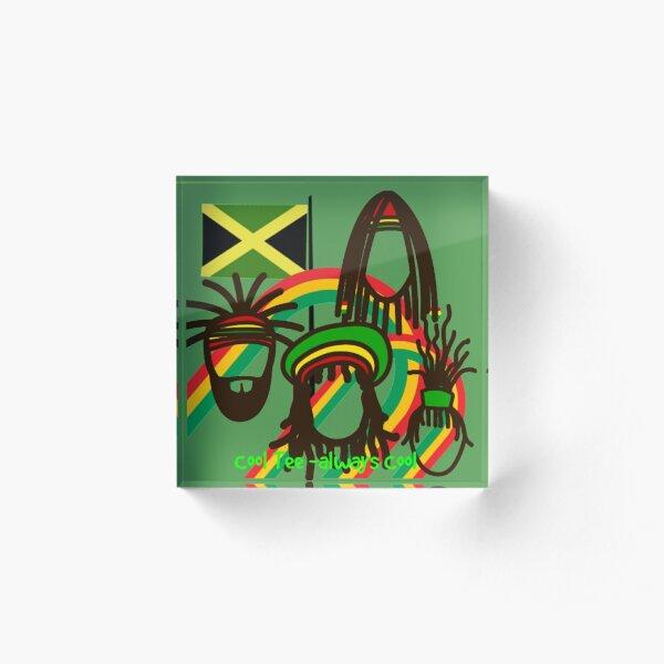Jamaica-Jamaica-Jamaica- Acrylic Block
