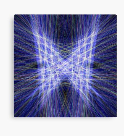 Laser Butterfly Canvas Print