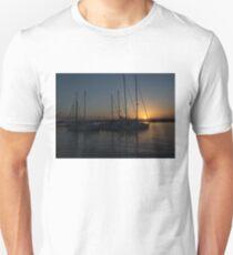 Sicilian Sunset at the Syracuse Harbour  Unisex T-Shirt