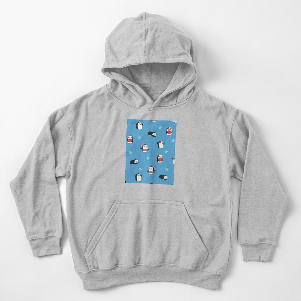 Gunter Pattern (Blue) Kids Pullover Hoodie