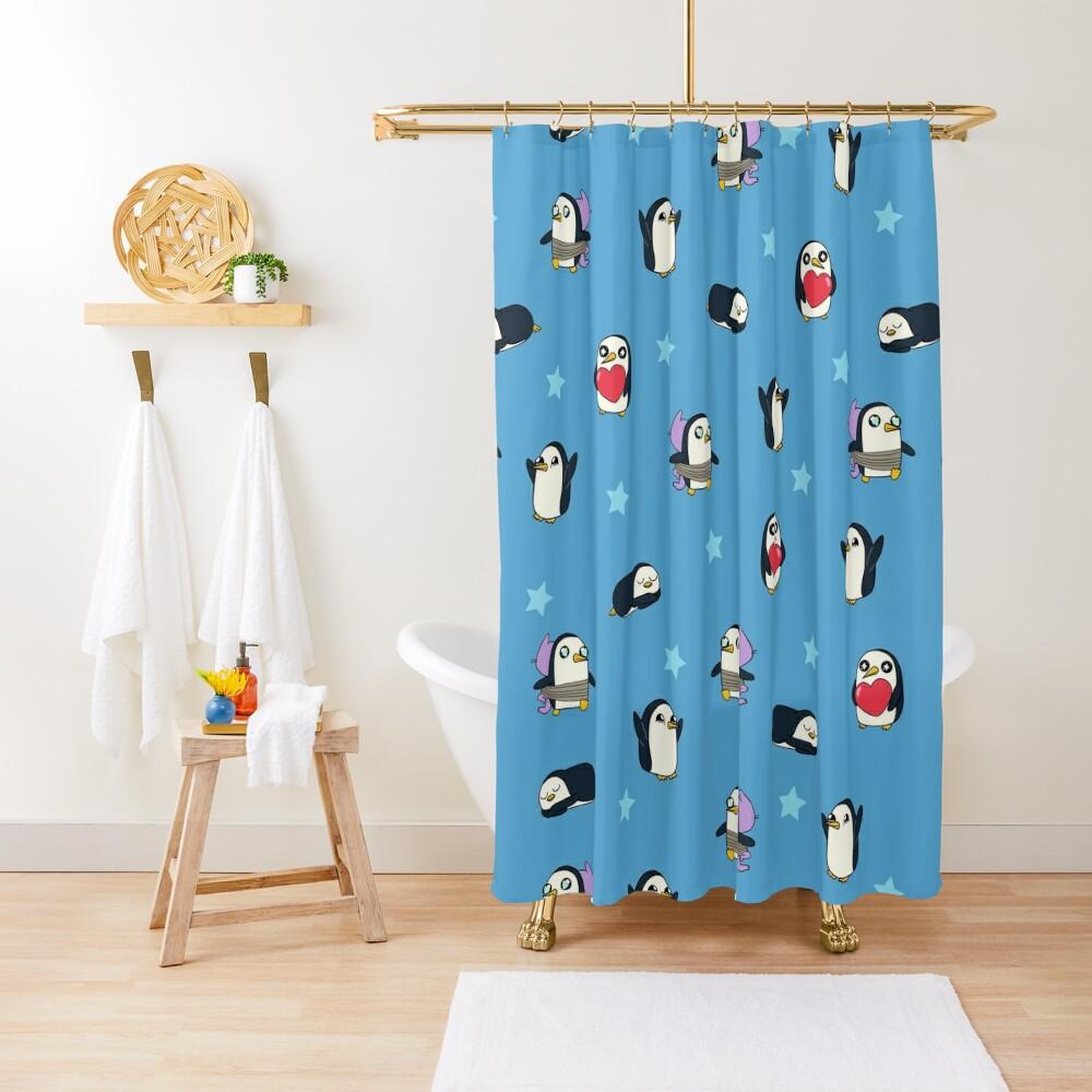 Gunter Pattern (Blue) Shower Curtain