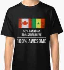 50% Canadian 50% Senegalese 100% Awesome - Senegal Flag Gift For Senegalese Classic T-Shirt