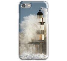 Waves Crashing Into A Lighthouse iPhone Case/Skin