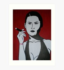 Woman Smoking a Cigar Art Print