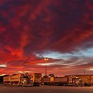 Red Morning, Truckers Warning by robcaddy