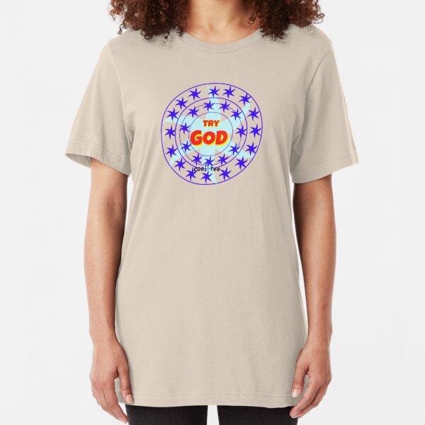 TRY GOD-TRY GOD Slim Fit T-Shirt