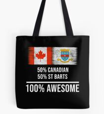 88b5b5d15d6df 50% Canadian 50% St Barts 100% Awesome - Saint Barthelemy Flag Gift For