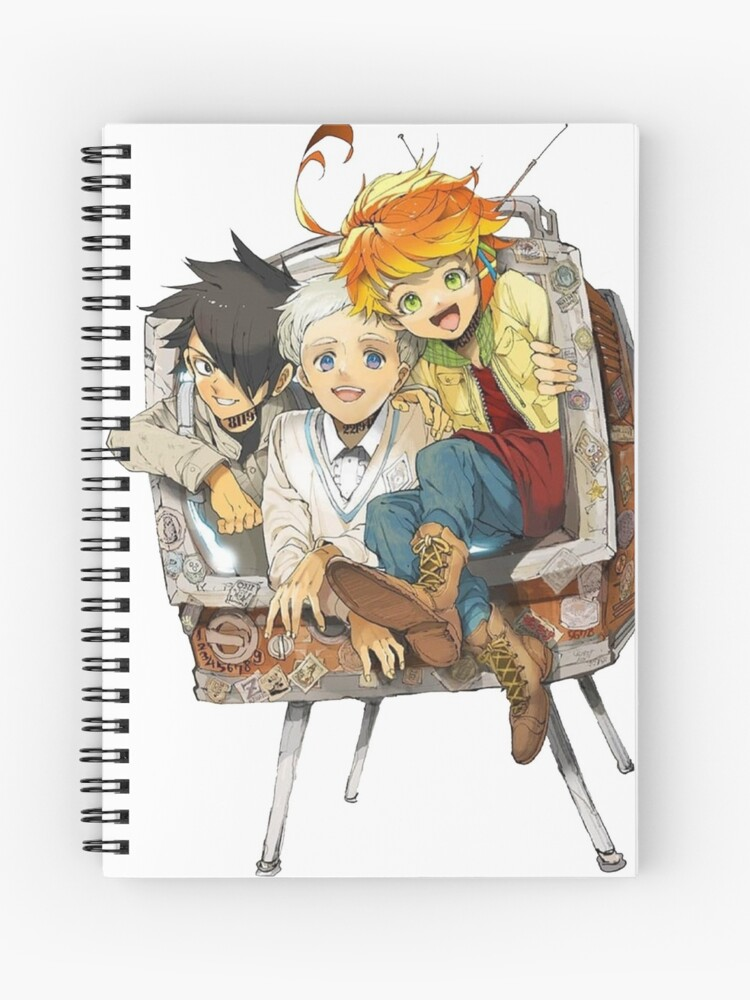 The Promised Neverland Emma Ray Norman Playing Spiral Notebook