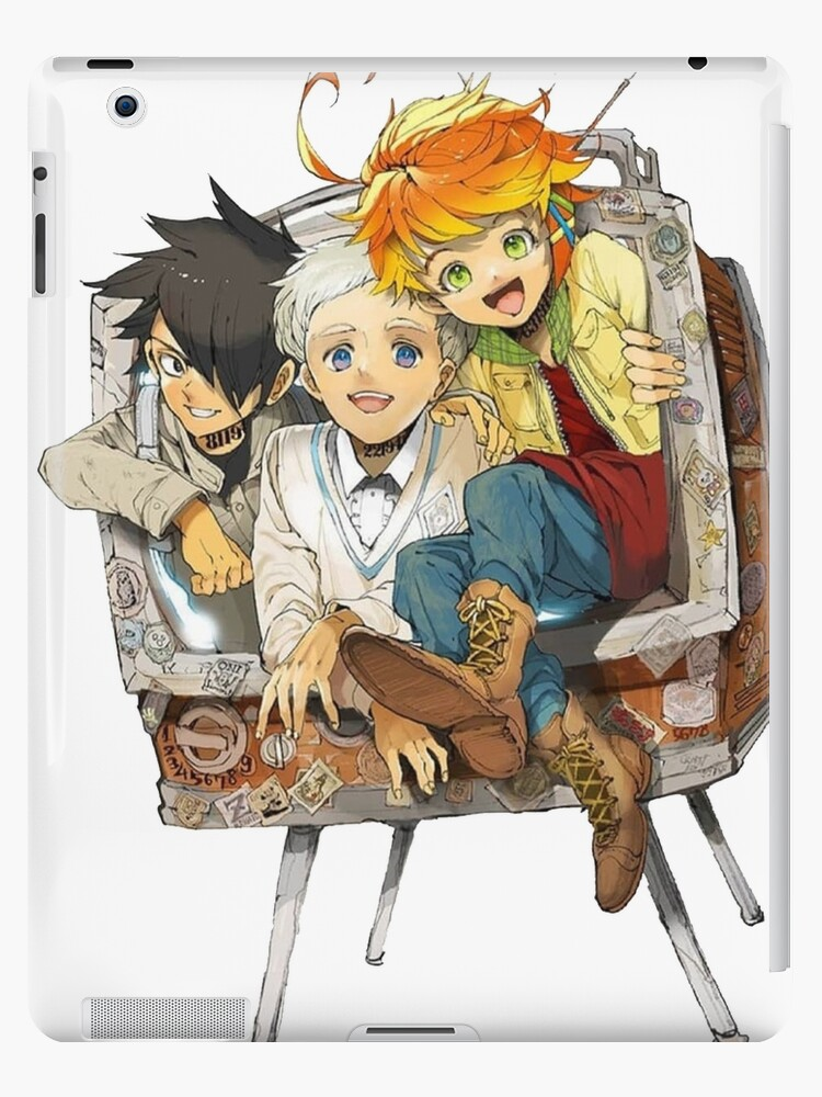'The promised neverland Emma,Ray & norman Playing' iPad Case/Skin by Max Art