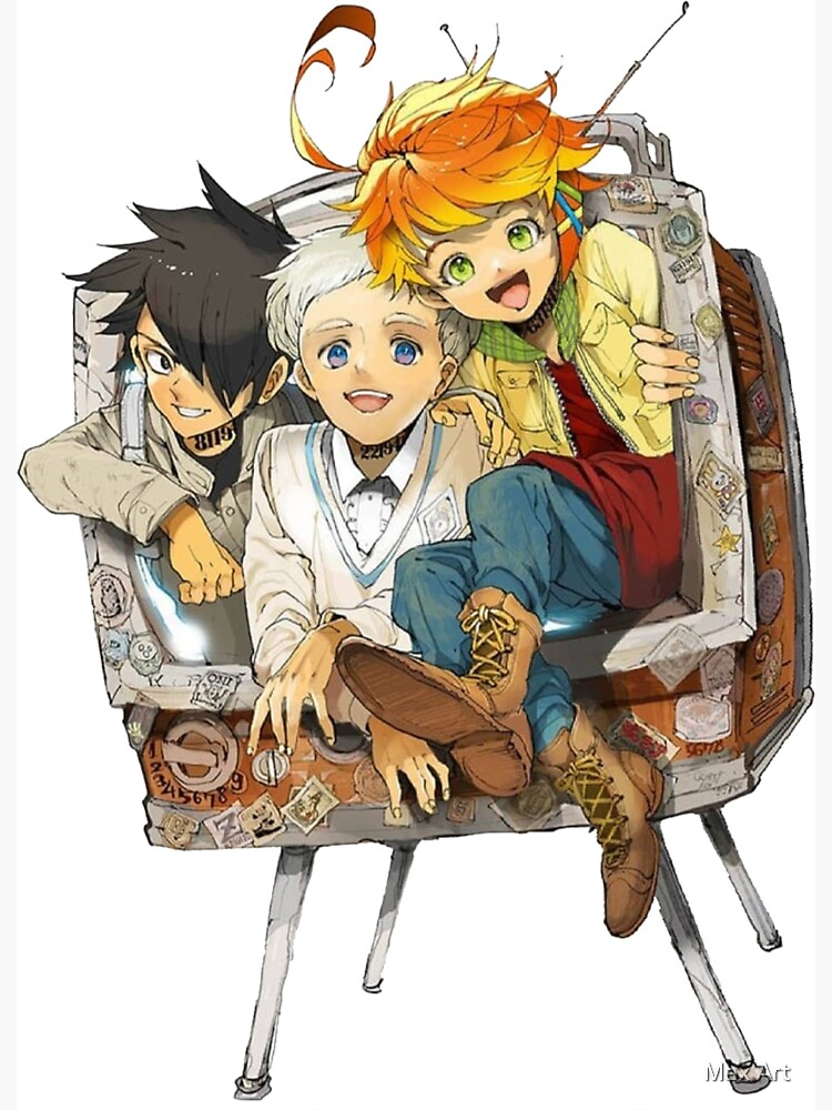 The Promised Neverland Emma Ray Norman Playing Sticker