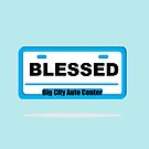 BLESSED ON THE CAR by coolteeclothing