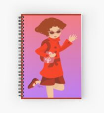 The Woman in Red Spiral Notebook
