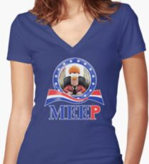 Meep Women's Fitted V-Neck T-Shirt