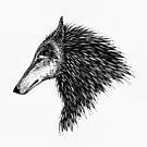 Stylized Wolf by Catherine  Howell