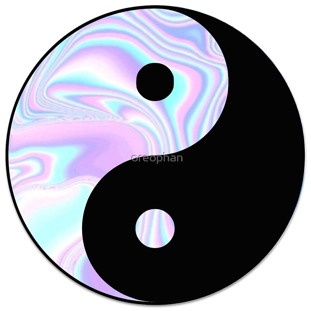 Psychedelic Yin Yang by oreophan